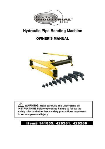 pipe bending machine price list