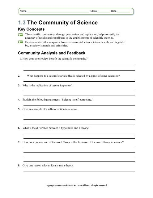 13 The Community Of Science Key Concepts
