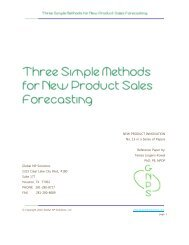 Three Simple Methods for New Product Sales Forecasting