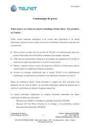 Communiqu de presse - Telnet