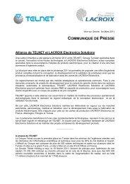 communique de presse - Telnet