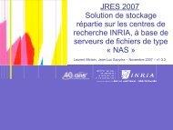 NAS - Les JRES 2007 à Strasbourg
