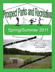 Spring/Summer 2011 - Town Of Prospect