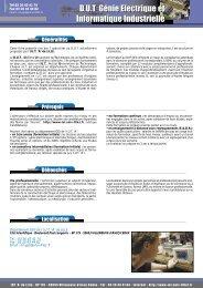 D.U.T Génie Electrique et Informatique Industrielle ... - IUT A de Lille