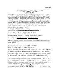 Page 1 of 20 CITIZENS UNION CANDIDATE QUESTIONNAIRE ...