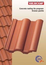 Concrete roofing tile program: Kronen pantile - Nelskamp