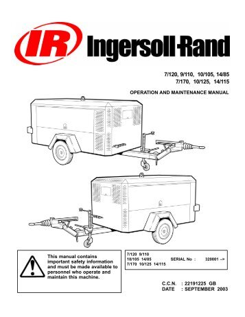 Ingersoll Rand dd110 parts manual on
