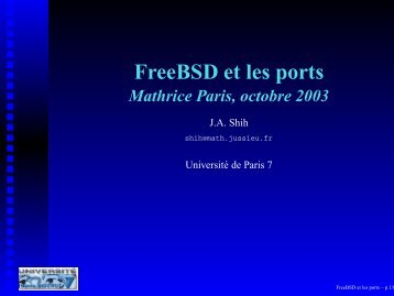 FreeBSD et les ports