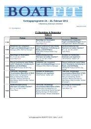 Vortragsprogramm 24. - 26. Februar 2012 - Boatfit