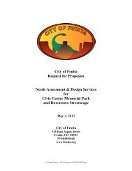 City of Fruita Request for Proposals Needs Assessment & Design ...