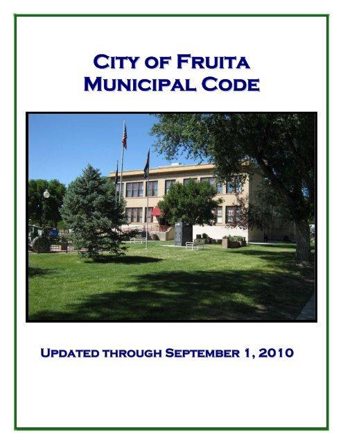 City of Fruita Municipal Code