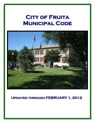 City of Fruita Municipal Code