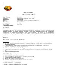 Job Posting Utility Billing Clerk Apr 2011.pdf - City of Fruita
