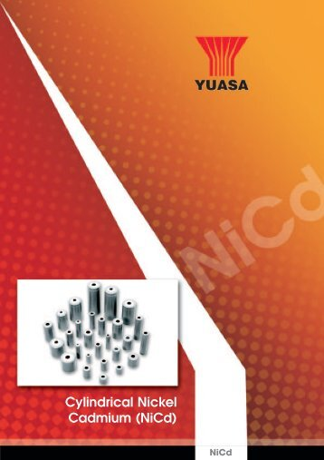 Cylindrical Nickel Cadmium (NiCd) - Yuasa
