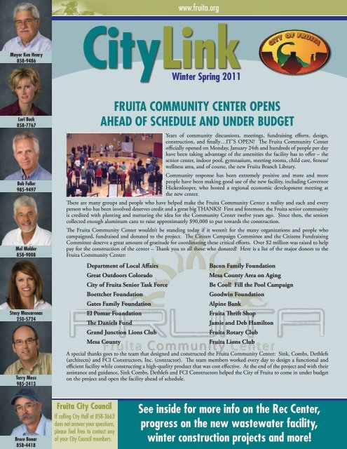 City Link 2011-1.pdf - City of Fruita