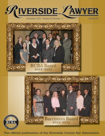 December 2012 - Riverside County Bar Association