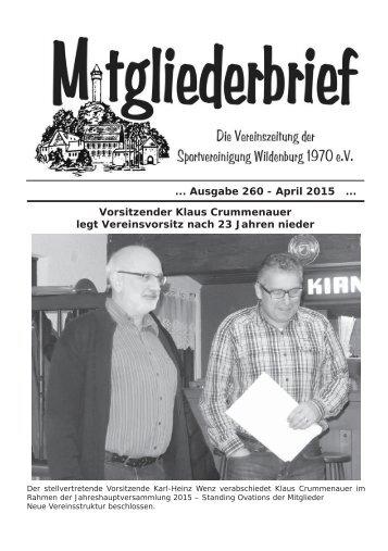 Ausgabe 260 - April 2015