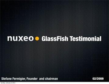 GlassFish Testimonial - Stefane Fermigier