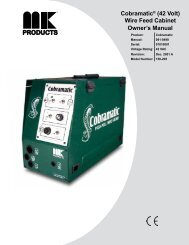 Owner's Manual Cobramatic® (42 Volt) Wire Feed ... - MK Products