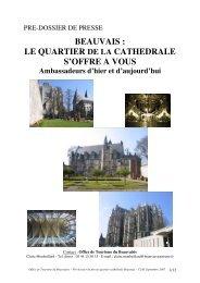 Office de Tourisme du Beauvaisis – Pré-dossier de presse