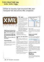 Utiliser le nouveau type structuré XML pour manipuler des ...