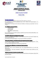 Assises du Tourisme Aude 2011 CR Atelier Tourisme Familial