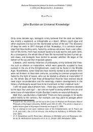 John Buridan on Universal Knowledge - John Benjamins