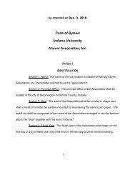 Code of Bylaws Indiana University Alumni Association, Inc. Article I