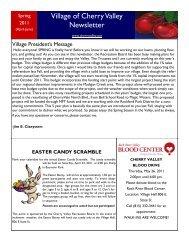 Village of Cherry Valley Newsletter