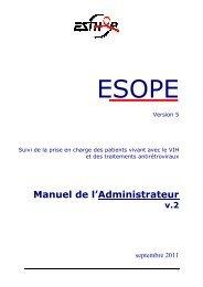 Téléchargement du manuel administrateur - Esther