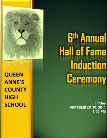 2011 Hall of Fame Induction (PDF) - Queen Anne's County Public ...