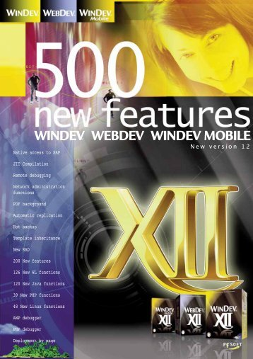 WINDEV WEBDEV WINDEV MOBILE - Source : www.pcsoft-windev ...