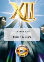 TDF Tech 2008 Support de cours - WINDEV et WEBDEV