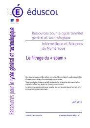 Le filtrage du « spam » - Ministère de l'Éducation nationale
