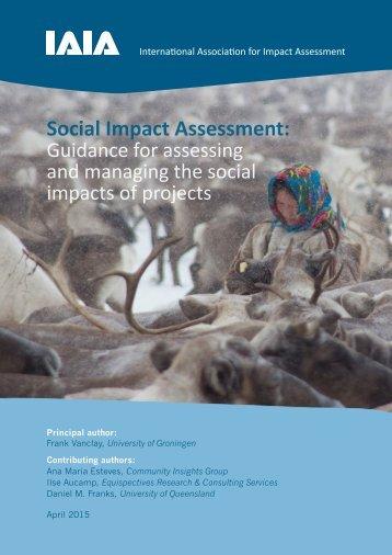 IAIA 2015 Social Impact Assessment guidance document