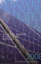 compte-rendu d'actiVité annuel - Provence Promotion