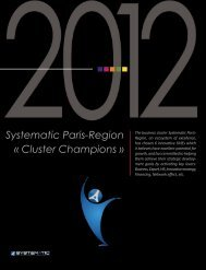 Systematic Paris-Region « Cluster Champions »
