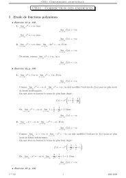 CH11 : Correction des exercices