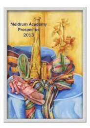 Prospectus 2013 - Meldrum Academy