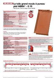 La tuile grand moule à pureau plat NIBRA® - G 10 - Nelskamp