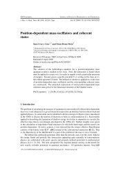 Position-dependent mass oscillators and coherent states