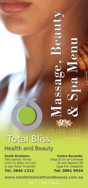Download our new Spa Menu PRICE LIST - Total Bliss Health and ...