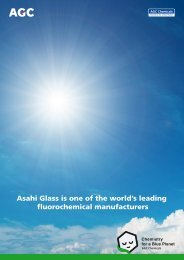 Asahi Glass is one of the world's leading fluorochemical ... - AGCCE