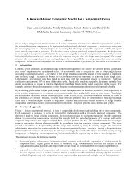 A Reward-based Economic Model for Component Reuse - Favaro.net