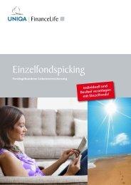 Folder - FinanceLife Lebensversicherung AG