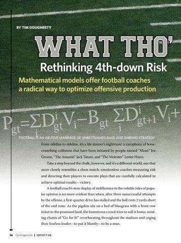 rethinking 4th-down risk - SportsQuant