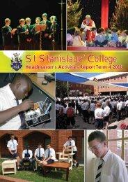 Headmaster's Activities Report Term 4 2011 - St Stanislaus College