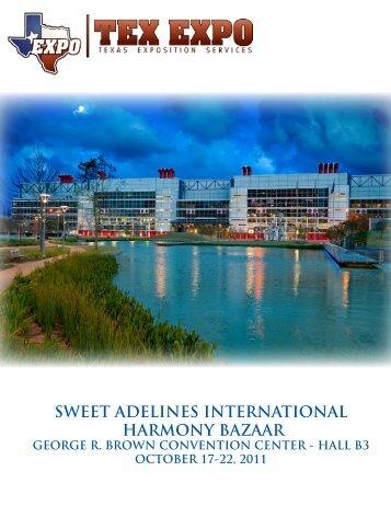 SWEET ADELINES INTERNATIONAL HARMONY BAZAAR TEXAS ...