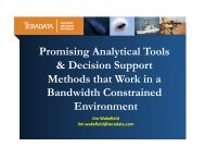 Promising Analytical Tools and Decision Support Methods that