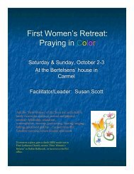 First Women's Retreat: Praying in Color - First Lutheran Church